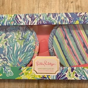 """NWT Lilly Pulitzer Appetizer Plates """"Wade & Sea"""""""
